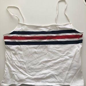Garage M White Tank w/ Stripes